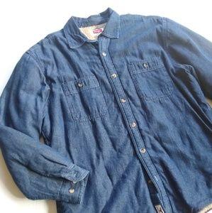 Wrangler • men's cozy lined denim shirt jacket